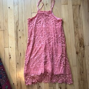 Francesca's Pink Lace Dress Size Small